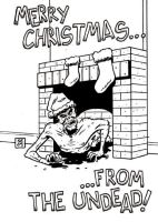 Zombie Xmas Card - inks by ScottEwen