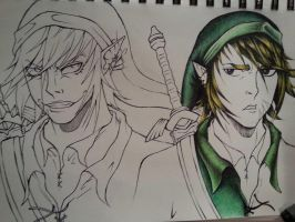 Link and Dark Link (WIP) 2 by JustinEugene