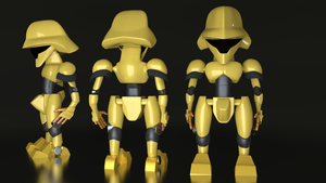 Yellow Robot by Ardhyno17