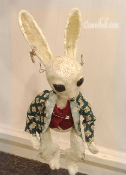 white rabbit marionette by cannibol