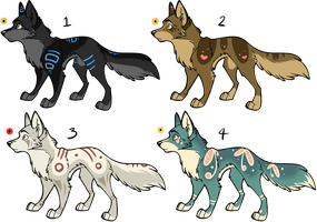 Assorted Canine Designs Batch 12 (CLOSED) by ChamberedNoctilus