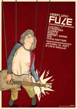 Kerplunk Fuse Gig Poster by i-bleed-ink