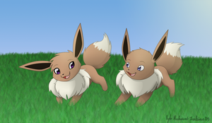 Taylin and Marcus' Eevees by northstar2x