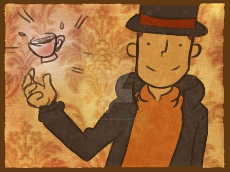 Layton Doodle - Perfect Tea by bethwhowishes