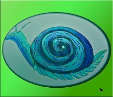 Snail with skirt by jennystokes