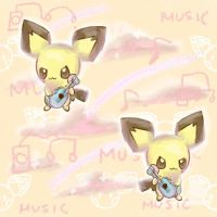 Ukulele Pichu Tumblr Background by poke-helioptile294