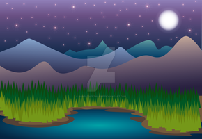 MountainNight by noneotherthanme