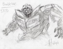 TF:DOTM - Bee quick sketch by MNS-Prime-21