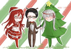 Christmas Grim Reapers by Akai-Cheshire