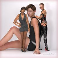 Trio 001 - Sara, Eva, and Magda by penmann