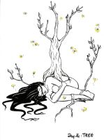 Inktober day 14 : Tree by Miup