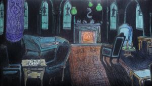 Slytherin Common Room by Cladylove