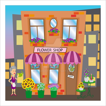 Mrs Miller and the Flower shop by fiyeropip