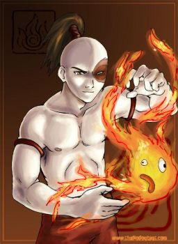 Avatar: Zuko and Calcifer by Aleana