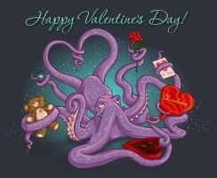 Valentine Squid by Renaenae