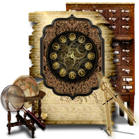 Secret Garden Clock Widget Icon Library by TheAngeldove