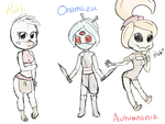 Starbound Character Sketches by ScarleyKwinn