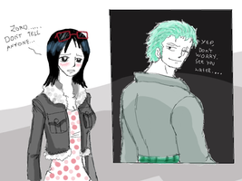 zoro and tashigi,, by heivais
