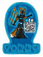 Tokky Foxena (New Conbadge for 2013) by Wedgie-Fox