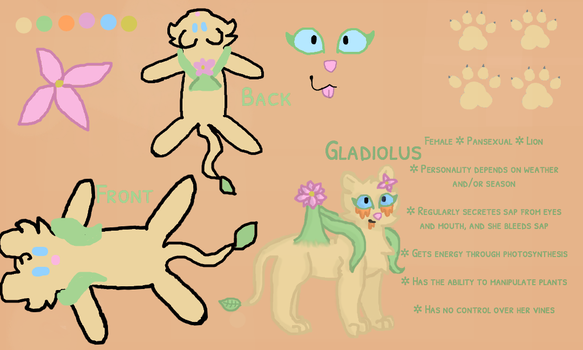 Gladiolus Reference Sheet by dragonclawscat