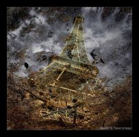 Eiffel Puddle Reflection by tyt2000