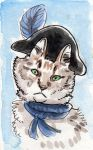 Ship Cat Series - Cat With a Nautical Hat by angelac