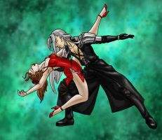 Rumba with Sephiroth -colored- by MegamiJadeheart