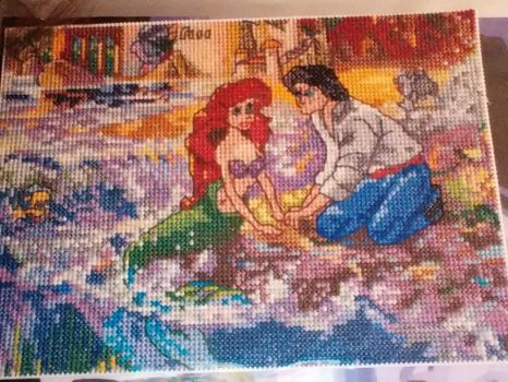 The Little Mermaid Cross Stitch by sydneyhicks111