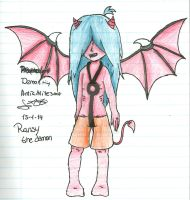 ::New OC::Ransy the demon by Nite3007