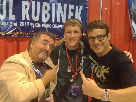 Me with Eddie Mcclintock and Saul Rubinek by Arkluden