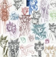Yugioh Pencil Collage by Yami-Nae