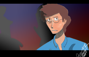 Bruce Banner anime (redrawn) by Nuclearpsychotic