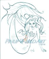 Mermaid Cartoon by NicoleBrune
