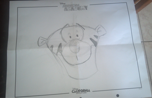 Guess who drew Tigger?! :D by Sugerpie56