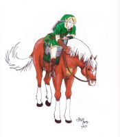 Link and Epona by BrrZerKuhr