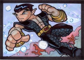 Namor Commish Card by TerryTibke