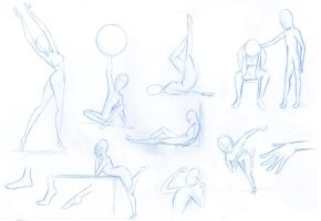 poses by DaveToons