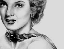 Marilyn Monroe drawing by Art-from-the-heart-x