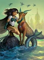 Sailor Capricorn by AlanGutierrezArt