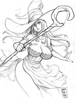 Sorceress from Dragon's Crown - commission - by KarlaDiazC