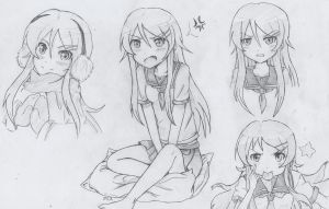 Kirino sketches by Kurysu
