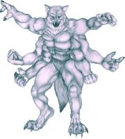 Six Armed Werewolf by Korrok