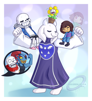 Family - Soriel Week Day 4 by MissHoloska