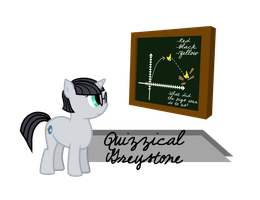 Quizzical Greystone - MLP FANART by LazingAbout94