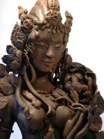 'Dancing Tara' close up 1 by JulieSwanSculpture