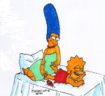 Marge tickles Lisa by solletickle