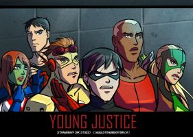 Young Justice Mission - Distortions - detail by Meibatsu