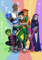 Teen_Titans by Hiniha