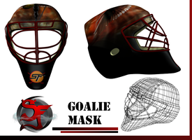 3d hockey goalie mask by ScottFourre