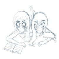 Sophie and Lucy reading! by Sophiie93